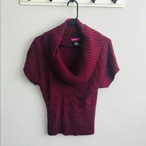 💕5/$25💕 SayWhat? Women's Burgundy Cowl Neck Top